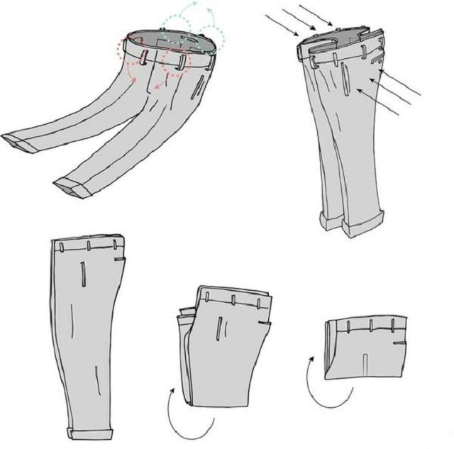 叠裤子的正确方法