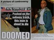 纽约地铁撞人照