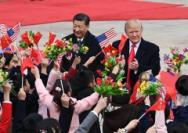 特朗普首次访华,中美合作结硕果