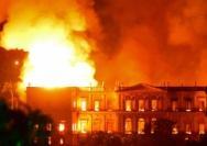 巴西国家博物馆惨遭大火浩劫
