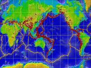 世界地震带分布图